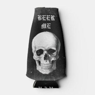 Grunge Skull Bottle Cooler