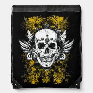 Grunge Skull Drawstring Bag