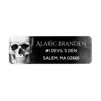 Grunge Skull Return Address Label