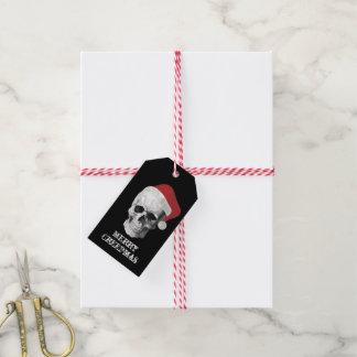 Grunge Skull Santa Gift Tags