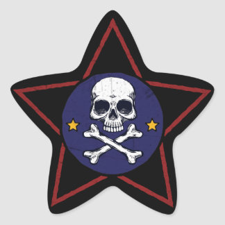 Grunge Skull Star Stickers