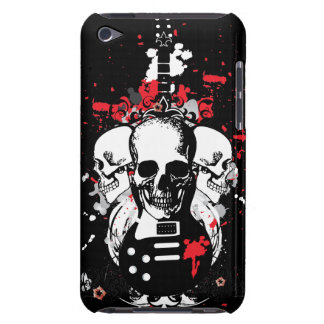 Grunge Skulls and Guitar iPod Case-Mate Case