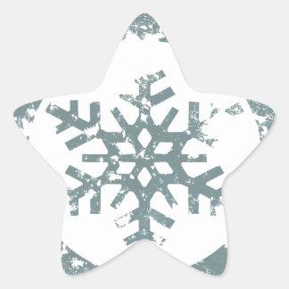 Grunge Snowflake Stickers