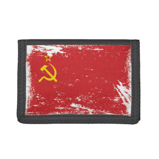 Grunge Soviet Union Flag - USSR Tri-fold Wallet