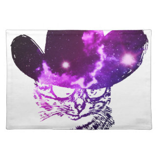 Grunge Space cat 2 Placemat
