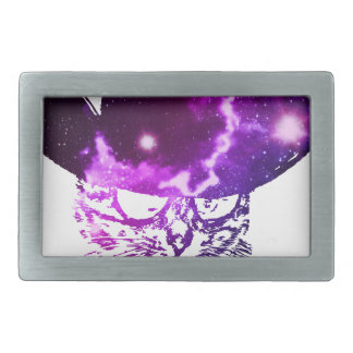 Grunge Space cat 2 Rectangular Belt Buckles