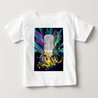 Grunge Speaker and Microphone3 Baby T-Shirt