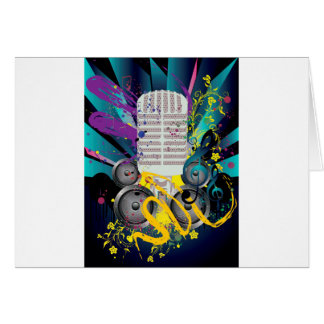 Grunge Speaker and Microphone3 Card