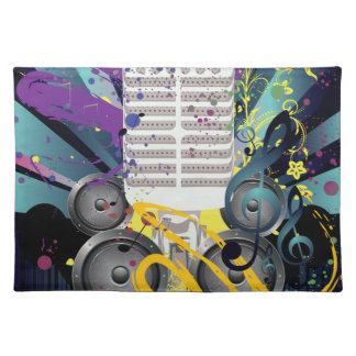 Grunge Speaker and Microphone3 Placemat