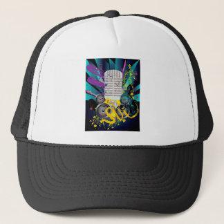 Grunge Speaker and Microphone3 Trucker Hat