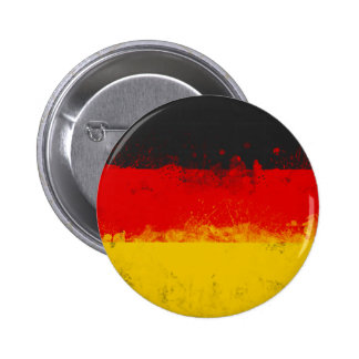Grunge Splatter Painted Flag of Germany 6 Cm Round Badge