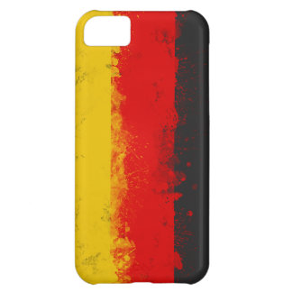 Grunge Splatter Painted Flag of Germany Cover For iPhone 5C