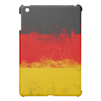 Grunge Splatter Painted Flag of Germany Cover For The iPad Mini