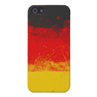 Grunge Splatter Painted Flag of Germany Case For iPhone 5