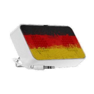 Grunge Splatter Painted Flag of Germany Portable Speakers