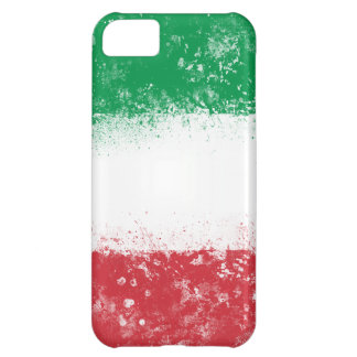 Grunge Splatter Painted Flag of Italy Case For iPhone 5C