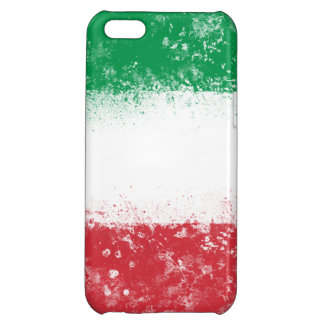 Grunge Splatter Painted Flag of Italy iPhone 5C Cases