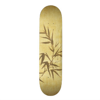 Grunge Stained Bamboo Paper Background Skate Decks