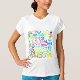 Grunge Stamps Womens Active Tee