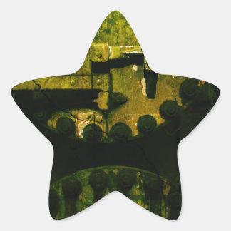 Grunge Star Sticker