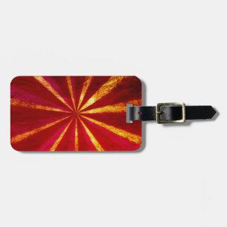 Grunge starburst luggage tag