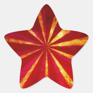 Grunge starburst star sticker