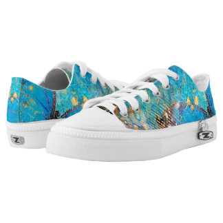 Grunge Steampunk Butterfly Abstract Design Low Tops