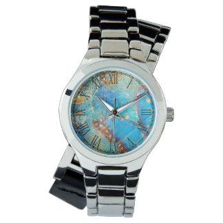 Grunge Steampunk Butterfly Abstract Design Watch