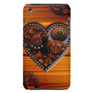 Grunge Steampunk Clocks and Gears Key Heart Box Case-Mate iPod Touch Case