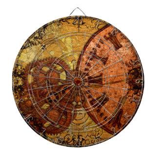 Grunge Steampunk Gear and Clock Dartboard