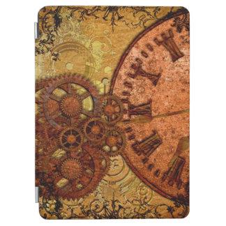 Grunge Steampunk Gear and Clock iPad Air Cover