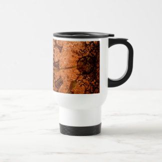 Grunge Steampunk Gear and Clock Travel Mug