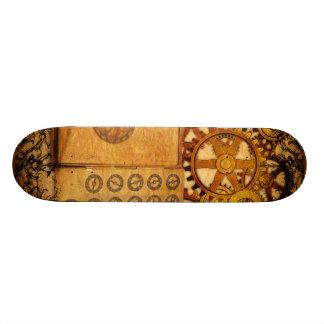 Grunge Steampunk Gears 19.7 Cm Skateboard Deck