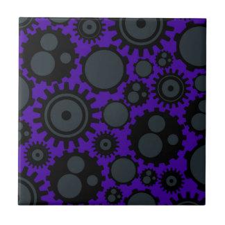 Grunge Steampunk Gears Ceramic Tile