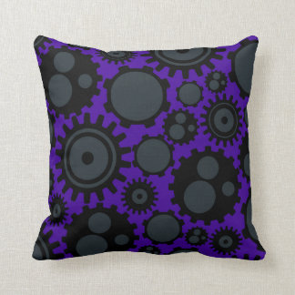 Grunge Steampunk Gears Cushion