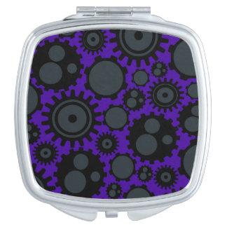 Grunge Steampunk Gears Makeup Mirror