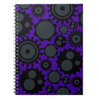 Grunge Steampunk Gears Notebook