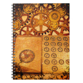 Grunge Steampunk Gears Notebooks