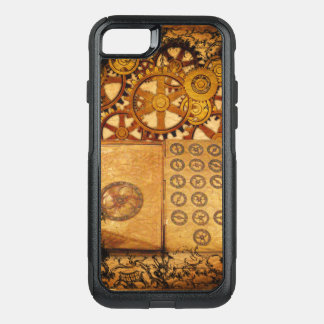 Grunge Steampunk Gears OtterBox Commuter iPhone 8/7 Case