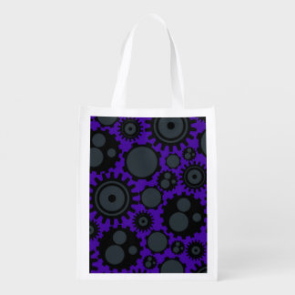 Grunge Steampunk Gears Reusable Grocery Bag