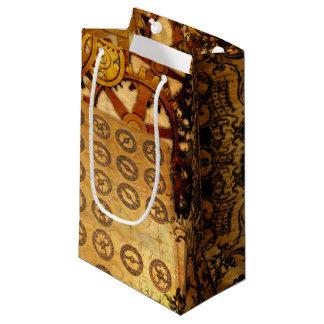 Grunge Steampunk Gears Small Gift Bag
