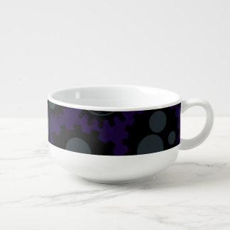 Grunge Steampunk Gears Soup Mug