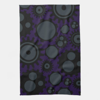 Grunge Steampunk Gears Tea Towel