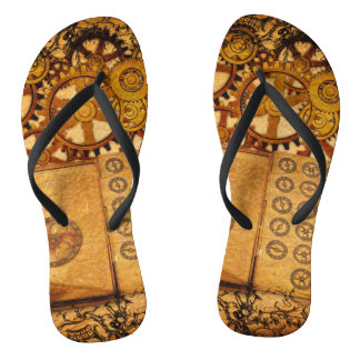Grunge Steampunk Gears Thongs