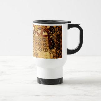 Grunge Steampunk Gears Travel Mug