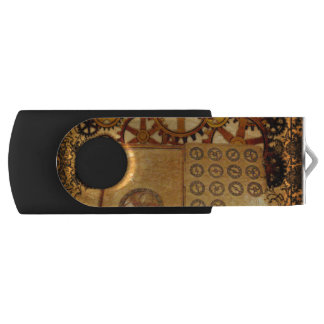 Grunge Steampunk Gears USB Flash Drive