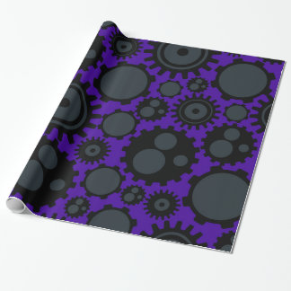 Grunge Steampunk Gears Wrapping Paper