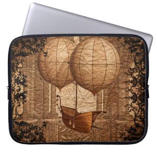 Grunge Steampunk Victorian Airship Laptop Sleeve