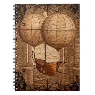 Grunge Steampunk Victorian Airship Notebooks