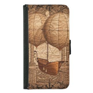 Grunge Steampunk Victorian Airship Samsung Galaxy S5 Wallet Case